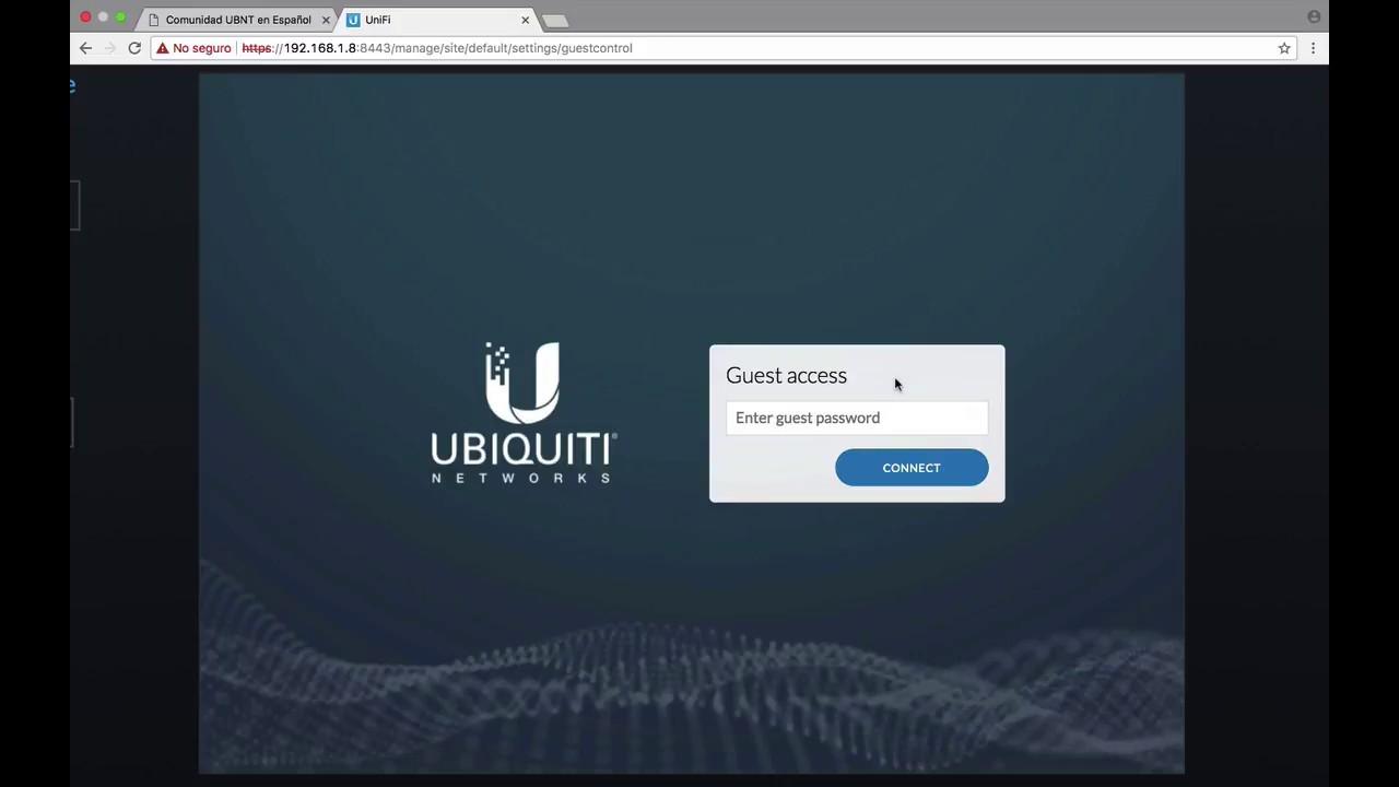Creación de Hotspot con UniFi