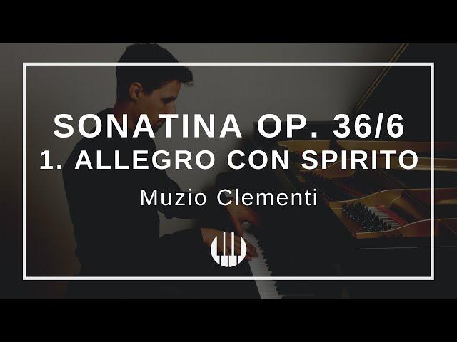 Sonatina Op. 36/6 in D-major - 1. Allegro con spirito von Muzio Clementi