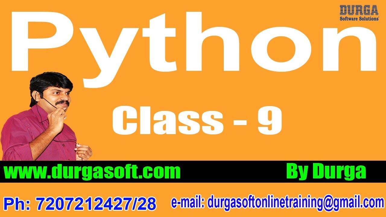 Learn Python Programming Tutorial Online Training by Durga Sir On  12-04-2018 @ 6PM