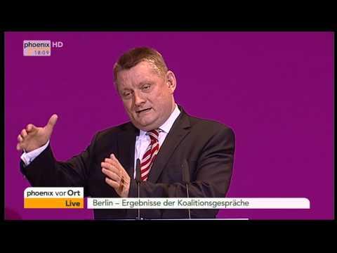Koalitionsverhandlungen: Statements von Nahles, Gröhe & Dobrindt am 11.11.2013