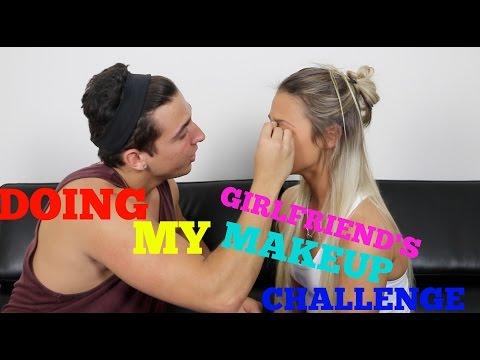 DOING MY GIRLFRIEND'S MAKEUP CHALLENGE | COREY SCHERER thumbnail