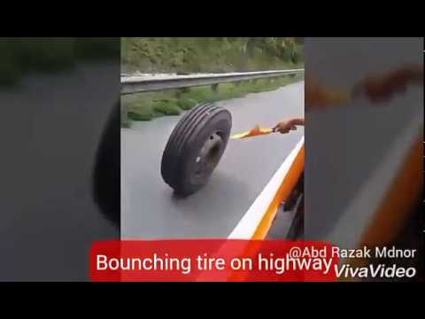 Bounching Tire On Highway