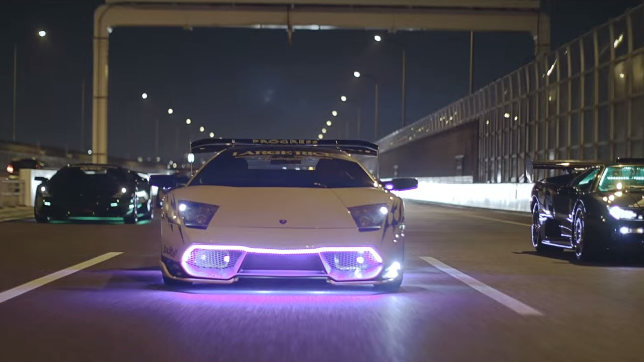 Lamborghini Neon Lights Party