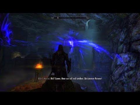 Shadow Knight Invades Necromancer Cave | Skyrim PS4