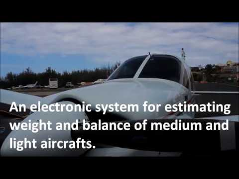 Electronic system for estimating weight and balance of light and medium aircraft