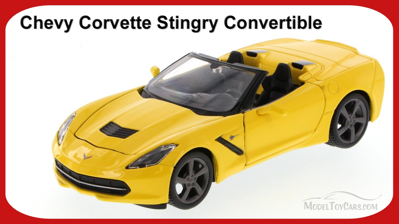 Maisto 34501 2014 Chevrolet Corvette C7 Stingray Convertible 1:24 Diecast Yellow