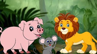 The Lion and The Mouse & The Brave Pig - English Moral Stories For Kids