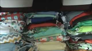 Our Cloth Diaper Stash & Changing Table Set Up