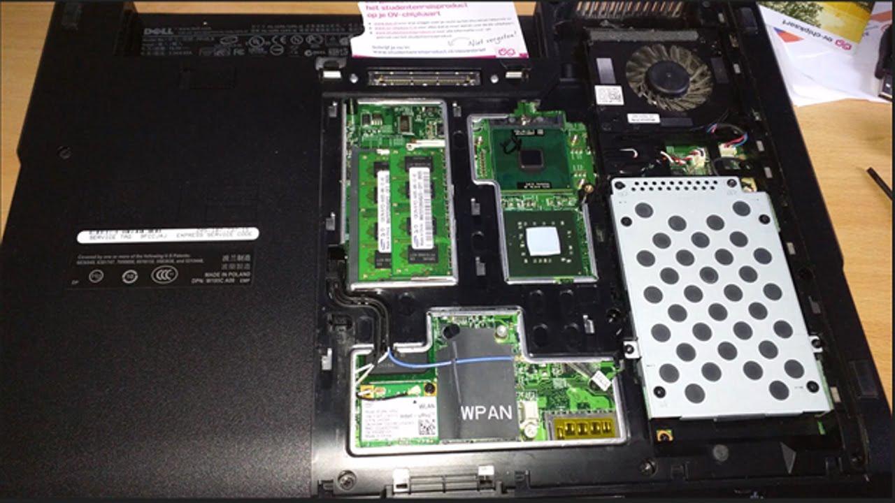 Upgrading The CPU on a Dell Latitude E5500