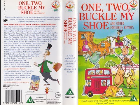 One, Two, Buckle My Shoe And Other Favourite Rhymes (1992 UK VHS)