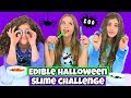 Edible Halloween Slime Challenge!  Making Slime From Halloween Candy!