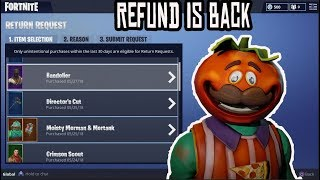 How To Use *NEW* REFUND SYSTEM IN FORTNITE FOR FREE V BUCKS!! HOW TO REFUND SKINS (TUTORIAL)