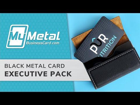 Executive Black Metal Business Card Starter Pack | My Metal Business Card