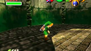 Link in an unknown N64 world. First custom OOT map I