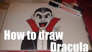 [HOW TO DRAW] Dracula // Special Halloween | KIE 2015