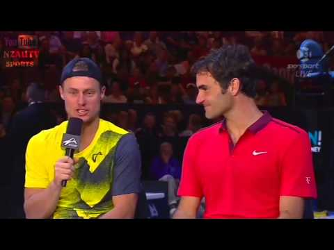 Roger Federer and Lleyton Hewitt Interview 2015 Sydney