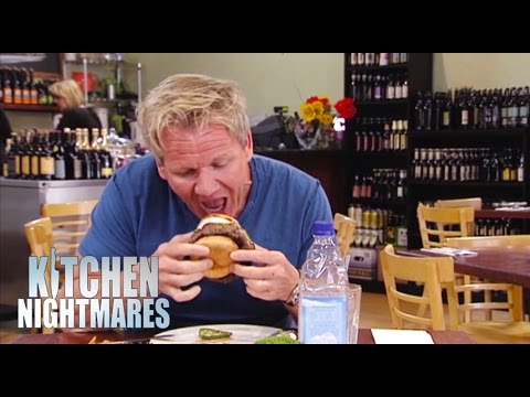 Thumbnail: Gordon Can't get 'Cowboy' Burger in his Mouth - Kitchen Nightmares