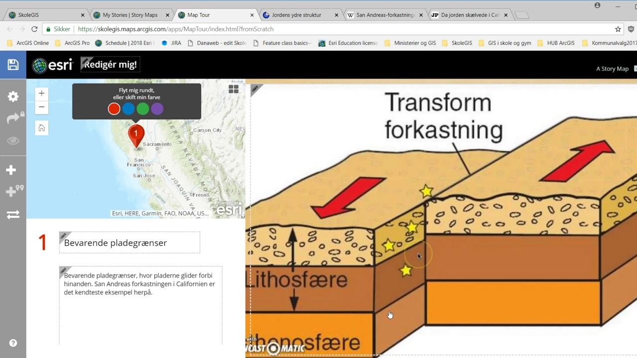 Story Map Tour - Jordskælv og pladegrænser