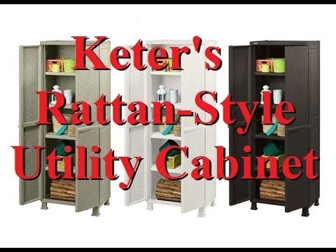 Keter Rattan Style 3 Drawer Cart.Keter Rattan Style Utility Cabinet Storage Youtube