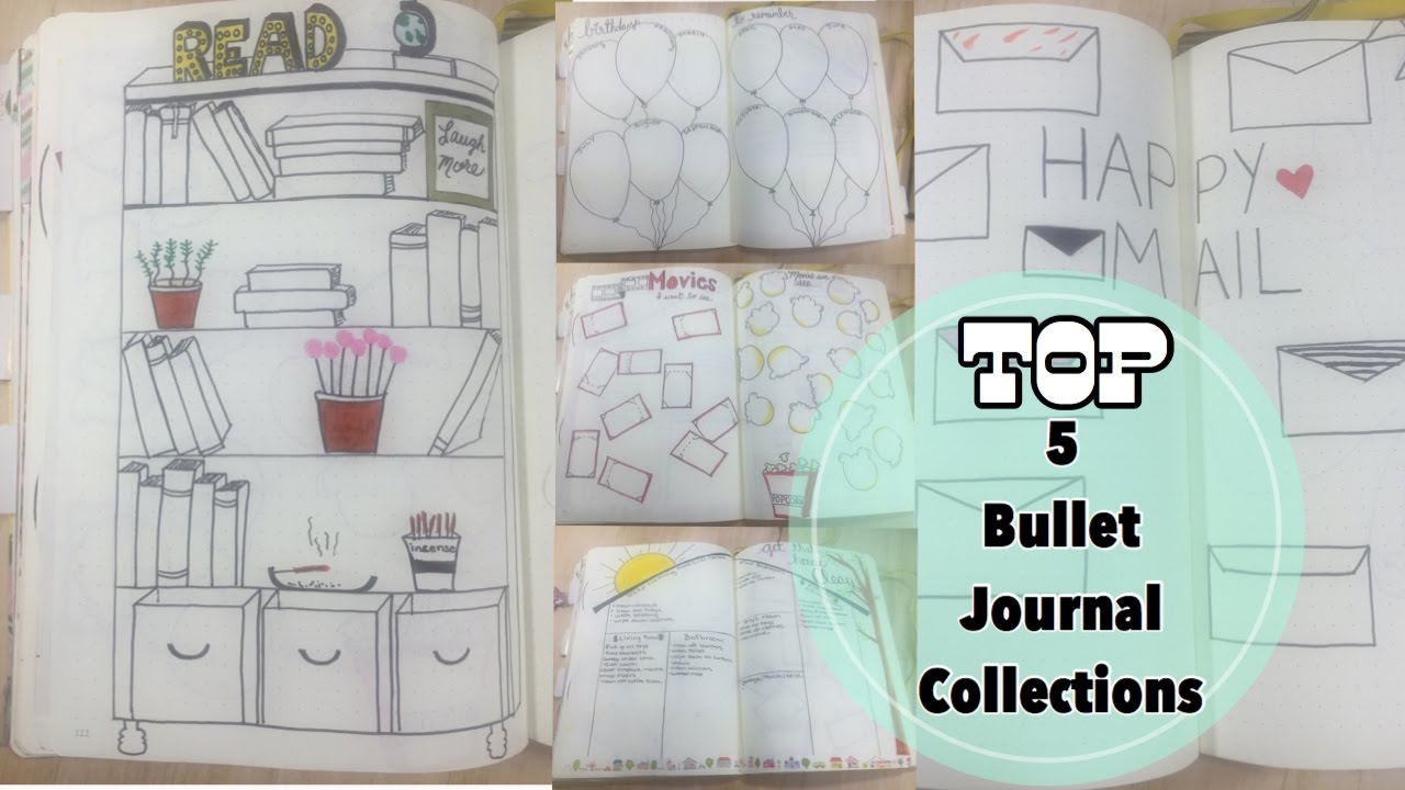 5 Bullet Journals Collections I LOVE Birthdays House Cleaning