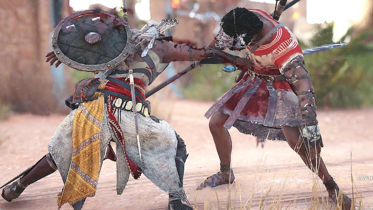 Assassin S Creed Origins Bayek Combat Camp Liberation Siwa Free