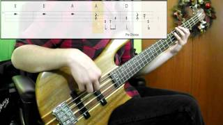 John Lennon - Happy Xmas (War Is Over) (Bass Cover) (Play Along Tabs In Video)