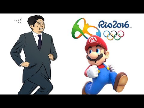 Japanese Prime Minister As Super Mario - Rio 2016