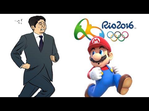 Japanese Prime Minister As Super Mario - Rio 2016