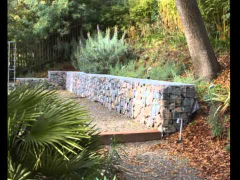 Retaining Wall Ideas for Garden Landscape Design - YouTube