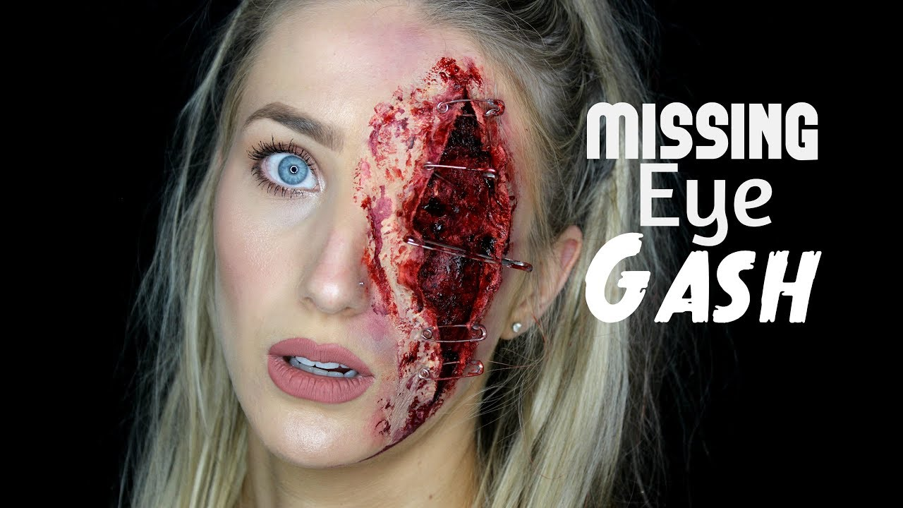 Missing Eye Gash- SFX Halloween Tutorial U2661 - YouTube