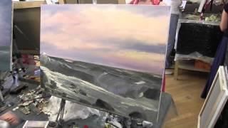 Морской пейзаж маслом, уроки живописи в Москве.И.Сахаров