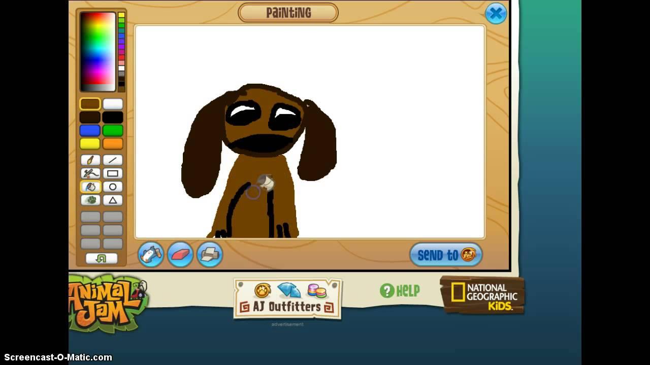 How To Draw A Cute Cartoon Dog On Animal Jam!