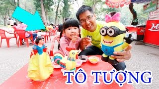be bun to tuong bach tuyet  minions cung bo me - how to paint snow white  minions