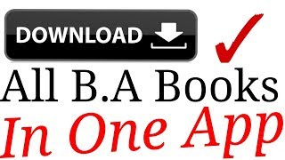 """""""""""How to download all B.A. books for free in pdf"""