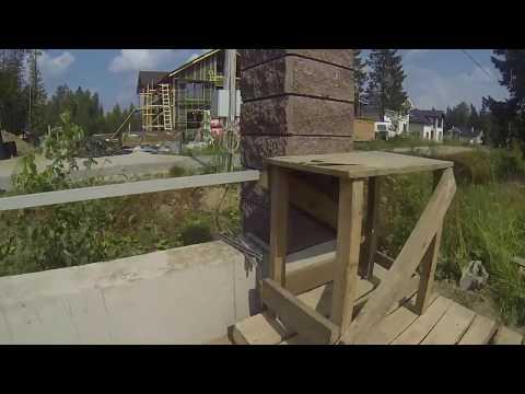 Забор из бетонных блоков меликон полар