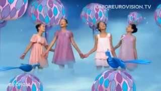 Georgia- Princesses singing Blue Bird -Junior Eurovision Song Contest 2009.mp4