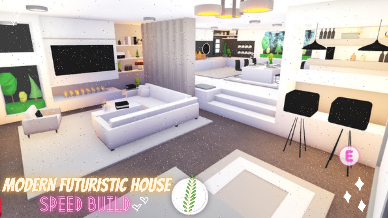 Modern Futuristic House Speed Build Part 1 Roblox Adopt Me Youtube