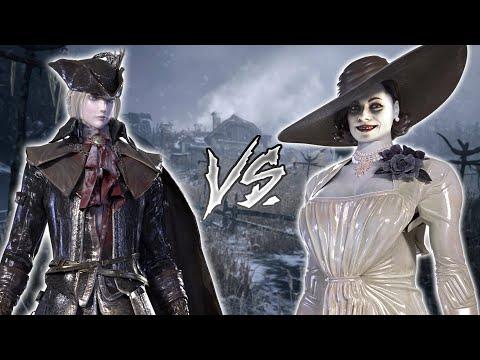 Lady Dimitrescu VS Lady Maria (Bloodborne X Resident Evil 8 Village Boss VS Boss Mod)