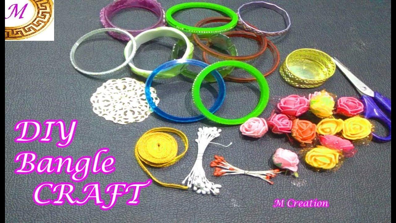Diy Diwali Craft How To Reuse Bangles Diy Bangle Decoration Craft