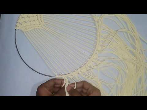 EASY NEW DESIGN MACRAME RING WALL HANGING