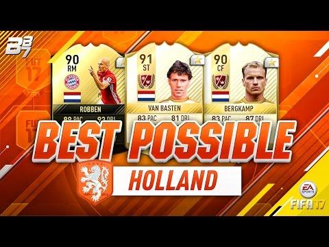 BEST POSSIBLE NETHERLANDS TEAM! w/ TIF ROBBEN AND VAN BASTEN! | FIFA 17