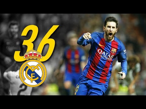 Lionel Messi - All 36 Goals & Assists vs Real Madrid (HD)