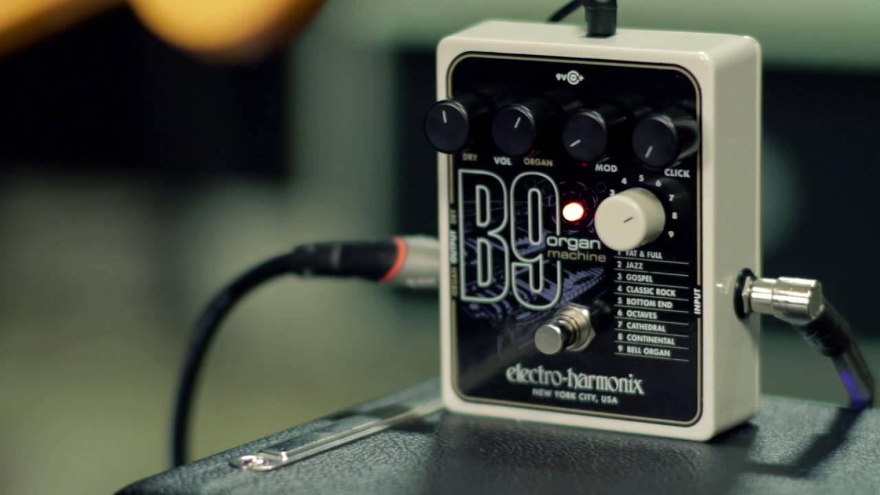 electro harmonix b9 organ machine guitar effects pedal youtube. Black Bedroom Furniture Sets. Home Design Ideas
