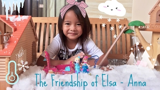 The friendship of Elsa and Anna in Winter | Zara Cute main Gelli Snow