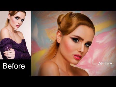 Photoshop Digital Painting Tutorial | How to Draw Digital Art thumbnail