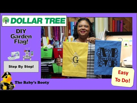 DIY Garden Flags From Dollar Tree! Easy To Make & Cool Idea!