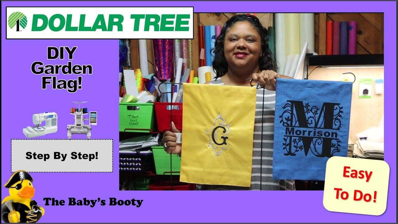 Diy Garden Flags From Dollar Tree Easy