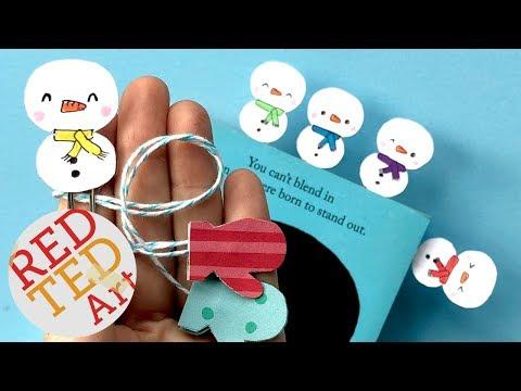 Kawaii Snowman Bookmark DIY - Easy Snowman Bookmark - Paper Crafts for Christmas & Winter