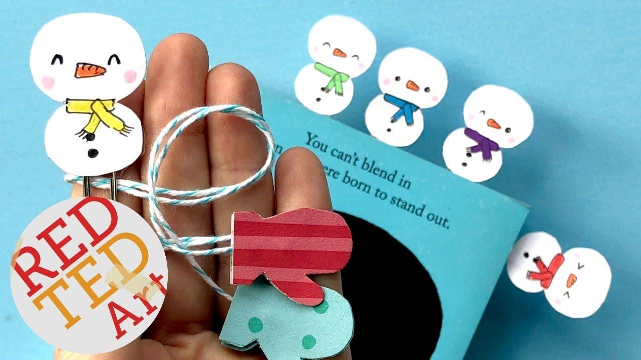 Kawaii Snowman Bookmark Diy Easy Snowman Bookmark Paper Crafts For Christmas Winter