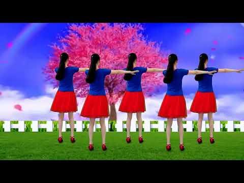 情歌对唱广场舞《浪漫桃花三月红》优美抒情32步,好听更好看!
